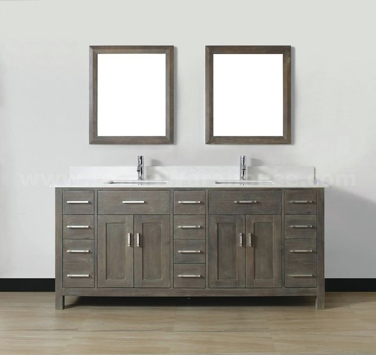 Gray Vanity White Sink |  Bathroom Vanities >> Vanities By Size >&#8221; title=&#8221;Gray Vanity White Sink |  Bathroom Vanities >> Vanities By Size >&#8221;></a></p> <h3>Hukill 72&#8243; Double Bathroom Vanity Set</h3> <p><a href=