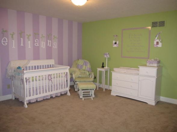Gallery For Baby Girl Nursery Purple And Green
