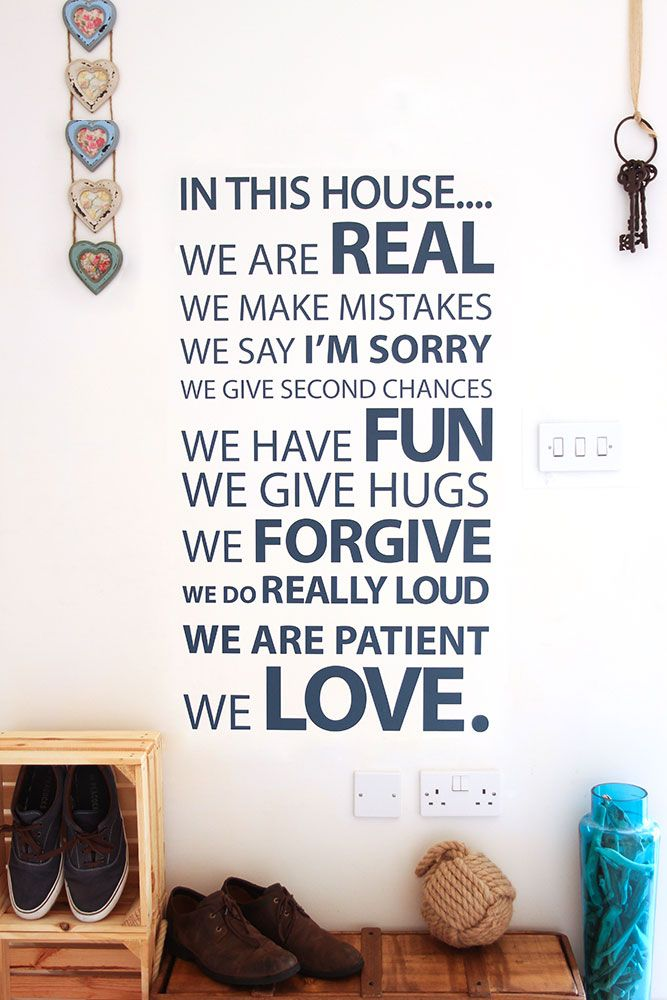 Lovely In This House Vinyl Wall Sticker Part 16