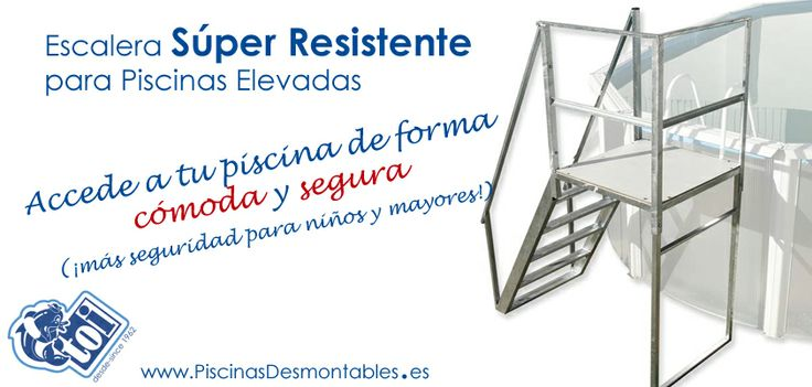 Escaleras s per resistentes para piscinas desmontables for Piscines demontables