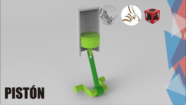 Tutorial Rhino 3D | Animación con Bongo | Pistón