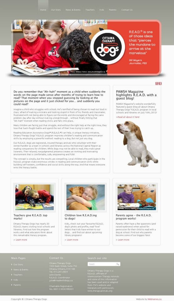 See the full website at www.ireadwithdogs.ca