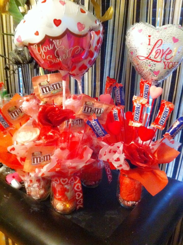 Valentine Candy Bouquet Mason Jars Candy Bouquets With