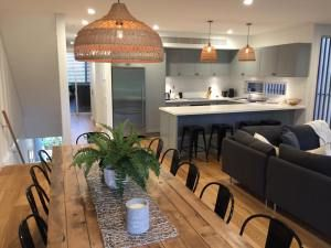 Slatted tables we did for accomodation apartments Pandanas at Mollymook