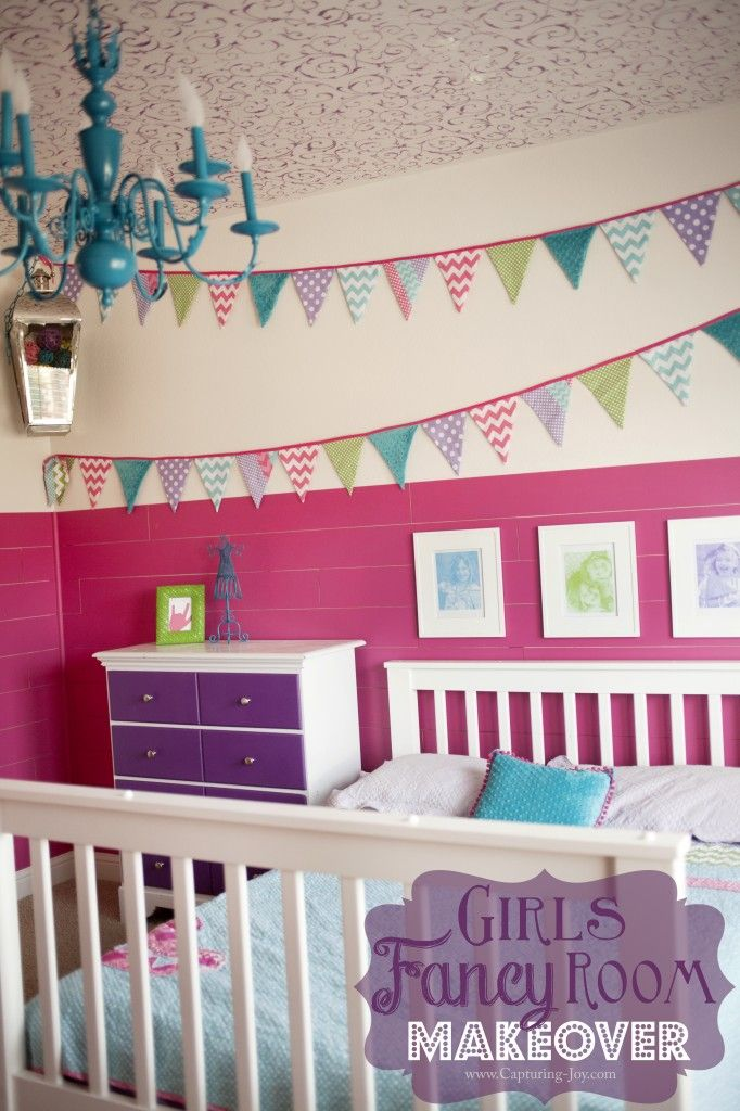 I love this girl bedroom makeover filled with fancy design and fun decor perfect for your little princess | KristenDuke.com