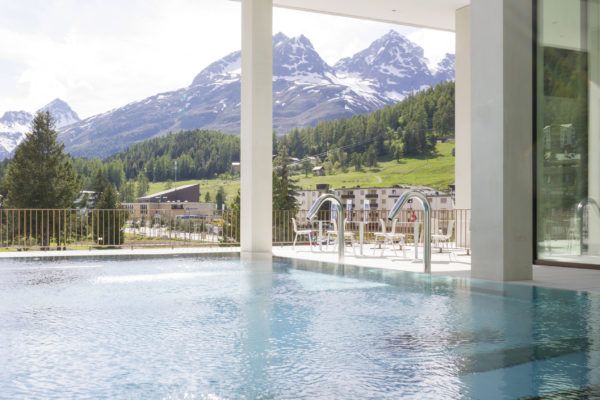 Hotel Laudinella- St Moritz- Switzerland. Spa and pool included.