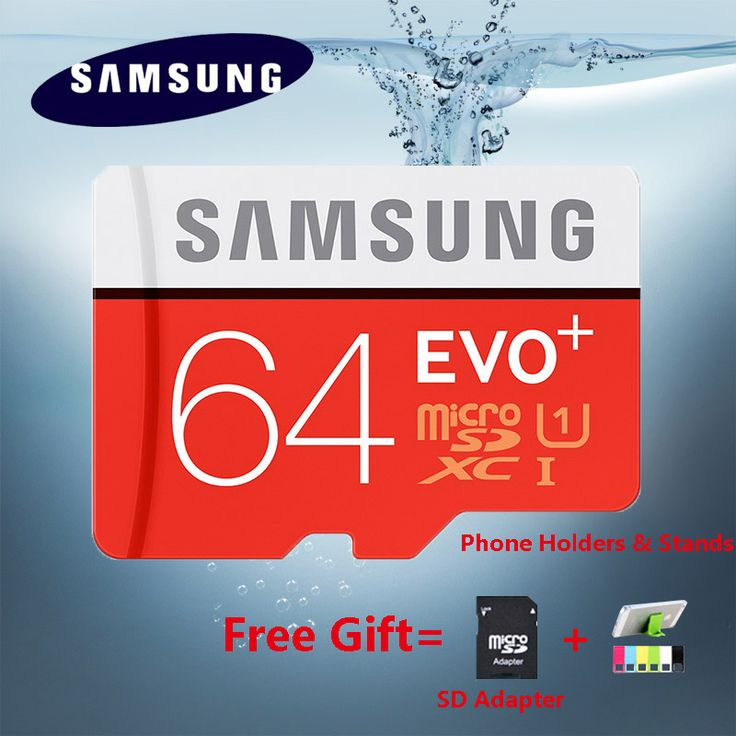 SAMSUNG EVO Plus Micro SD carte 64 GB 32 GB 16 GB 256 GB Class10 MicroSDSDXC UHS-I 80 MB/S SDHC TF carte 64 GB 128 GB + Adaptateur SD 256g