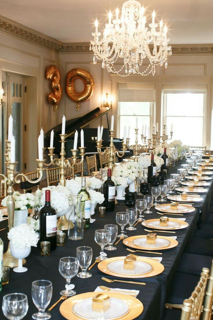 Wedding decorations black and gold   best images about Anniversary on Pinterest  Cupcake wedding