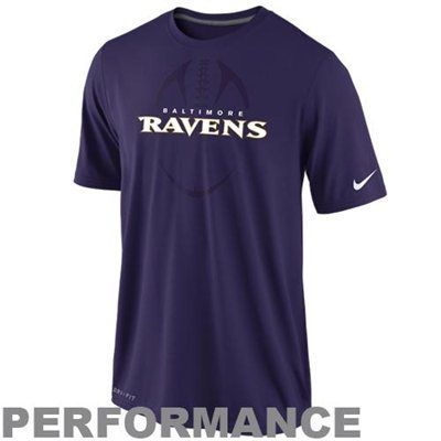 Nike Baltimore Ravens Dri-FIT Legend Football Icon Performance T-Shirt -  Purple e193c1dd09c5a