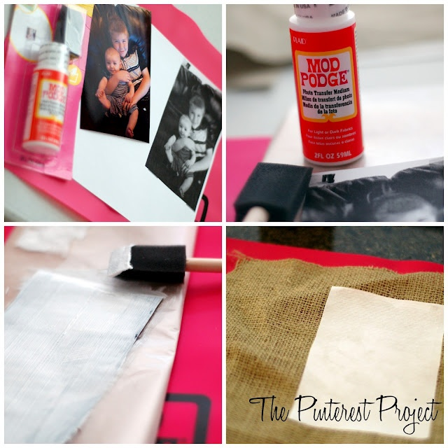 Transferring pictures on regular paper with mod podge onto fabric!