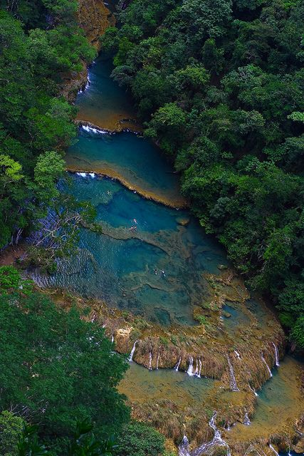 Semuc Champey, Alta Verapaz Guatemala, sure this view is nice.... but swimming in these ponds sure gives a much lovelier perspective!