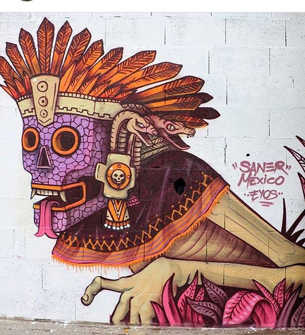 Edgar Saner Flores, Street Art, spray can