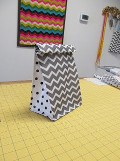 Notes from Sew School: DIY Lunch Bag Tutorial
