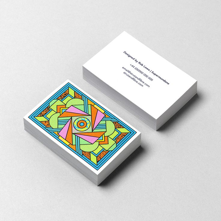 Business Card template designed by Supermundane for Strut and Fibre's Ambassador Collection.