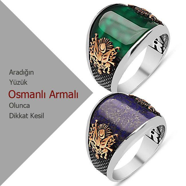 Osmanlı armalı yüzükler her zaman popülerliğini koruyor. http://www.dikkatkesil.com/yuzuk-modelleri/erkek-yuzukleri/osmanli-yuzukleri