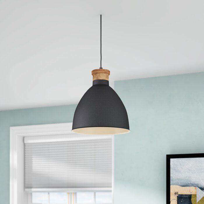 Allessandra 1 Light Single Bell Pendant Light Home Lighting Bell Pendant
