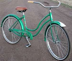 8048eb5d28f 1959 Vintage Schwinn American Classic Ladies Cruiser Bike. Reminds me so  much of my old bike. | Growing up in 60s/70s | Bicycle, Retro bicycle, ...