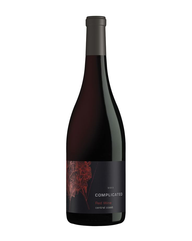 'Complicated' from Taken Wines. Label illustration by Mira Nameth.