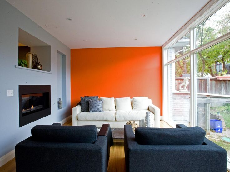 Best 25+ Orange accent walls ideas on Pinterest Paint ideas for - accent wall in living room