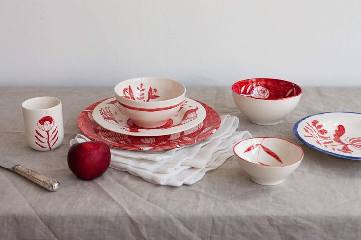 Madalina Andronic Ceramics  Custom made, hand painted porcelain tableware  http://ceramics.madiandronic.com