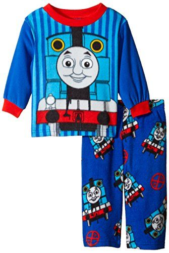 Thomas the Train Baby Boys Engine Stripes 2 Piece Pajama Set Blue 18 Months