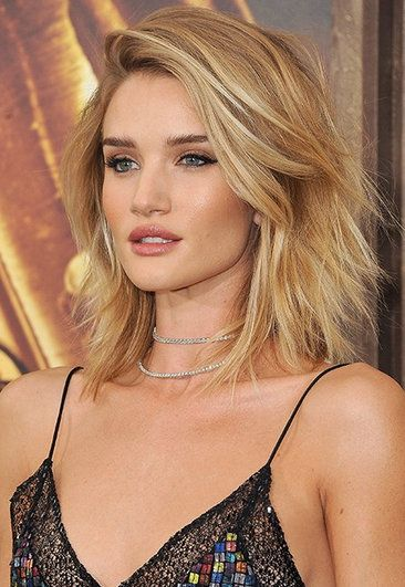#Coiffure - #maquillage Rosie Huntington-Whiteley