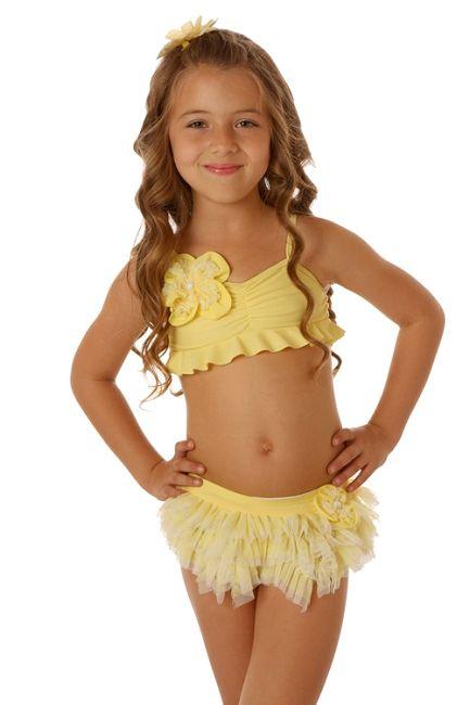 Ciao Bella Lemon Drop Skirted Bikini