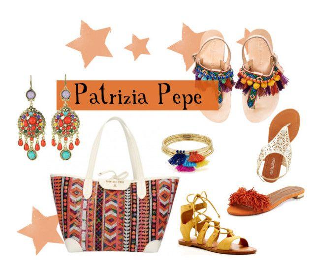 """Patrizia Pepe shopper gitana style"" by modaborse-net on Polyvore featuring moda, Olivia Miller, Aquazzura, Elina Linardaki, Dolce Vita, Aqua e WithChic"