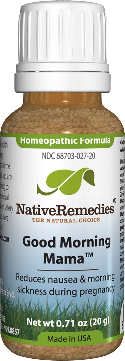 Good Morning Mamau2122 - Homeopathic remedy to temporarily relieve symptoms of morning sickness associated with pregnancy, such as nausea