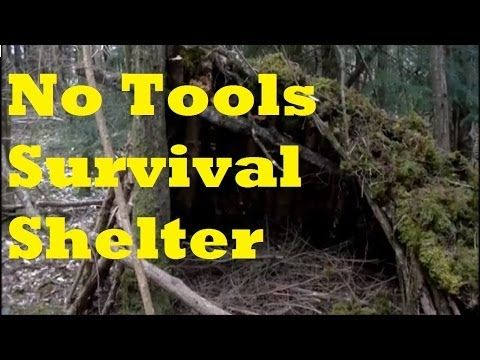 A Natural Survival Shelter with No Tools. for the Preppers UK 2 Doubters - YouTube