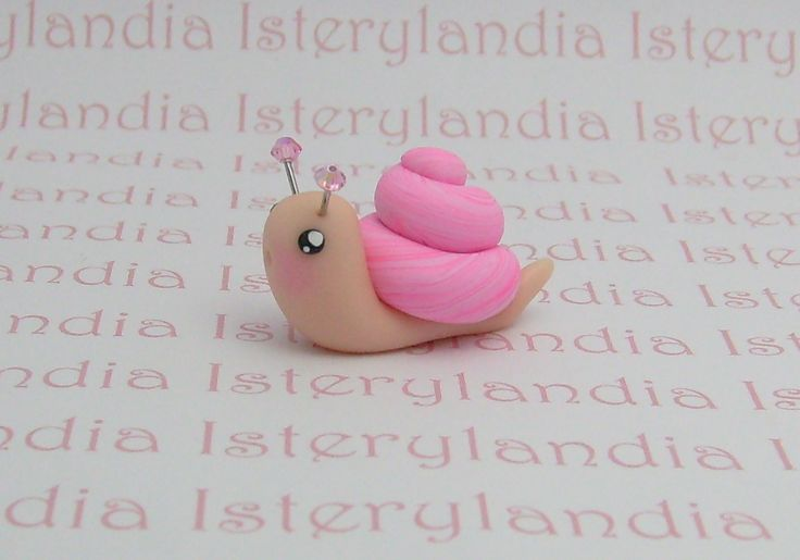 Cuter than the snails I've previously repined. Hopefully easier. You wouldn't think such a simple thing could be difficult to make. But I've found some of the easier looking poly clay charms are the hardest to do!
