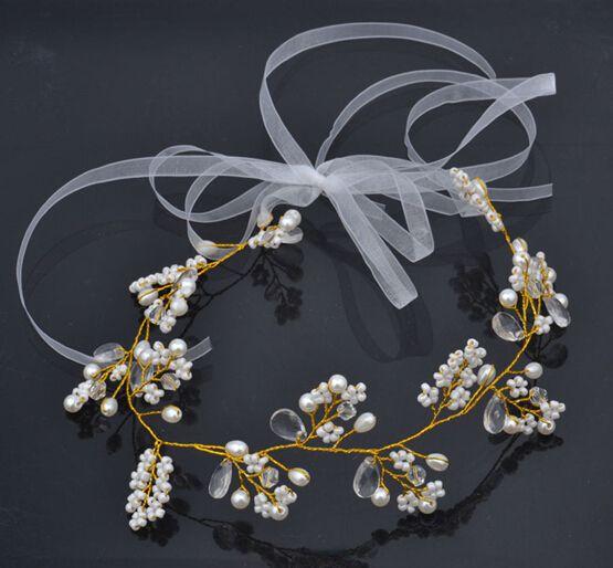 Свадебные аксессуары для волос ручной работы подготовлен с наружной съемки моделирования аксессуары бисером венок - Taobao