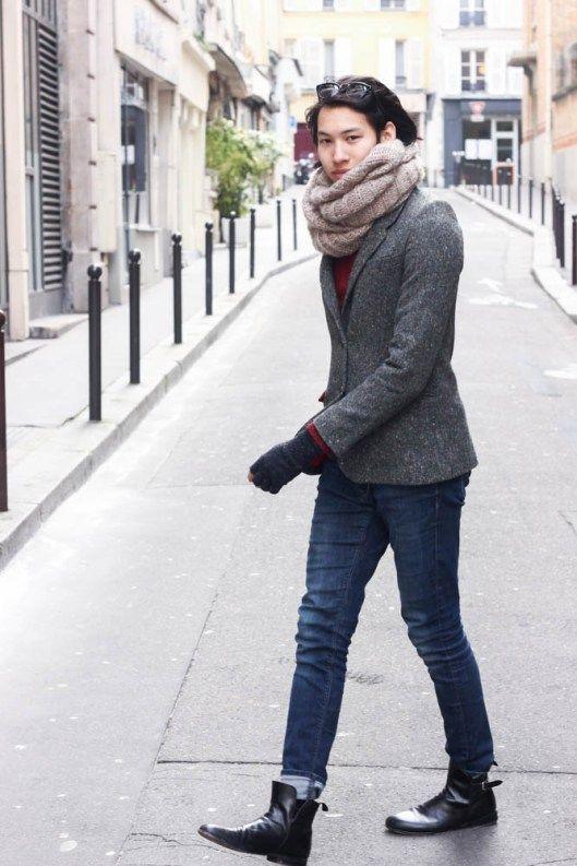 Look tweed homme , Boots Swan Exclusif Paris , http//www.exclusifchaussures