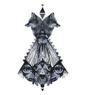 RUTH CRONE FOSTER - Go Fox Yourself  ArtRebels Paper Cuts  #illustrations #illustraion #poster #artrebels