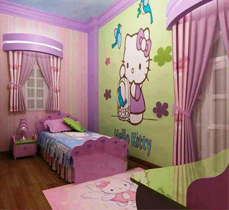 Bedroom Ideas Hello Kitty Soft Bedroom Colors Childrens Turquoise Bedroom Accessories Bedroom Decorating Ideas Gray And Purple: 17 Best Images About House- Girls Room- Princess And Hello