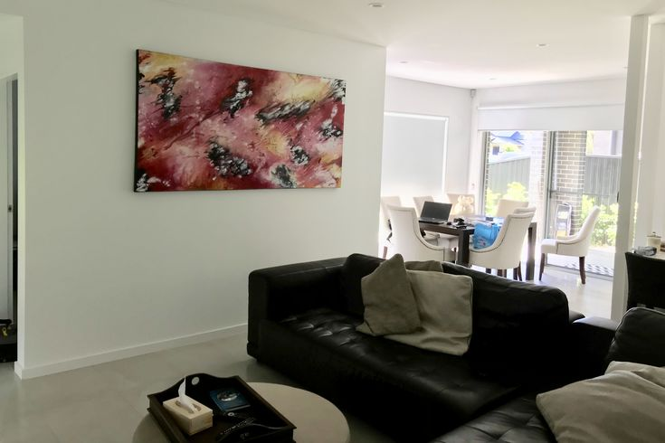 Artwork by Glenn Farquhar 200cm x 100cm created at Art Fusion Studio & Gallery Sydney acrylic on canvas #artfusion #artfusionart #interiordesignart #artideas #interior #design #decorart #artwork #artlessons #artsydney #artstudio #artist #art #customart