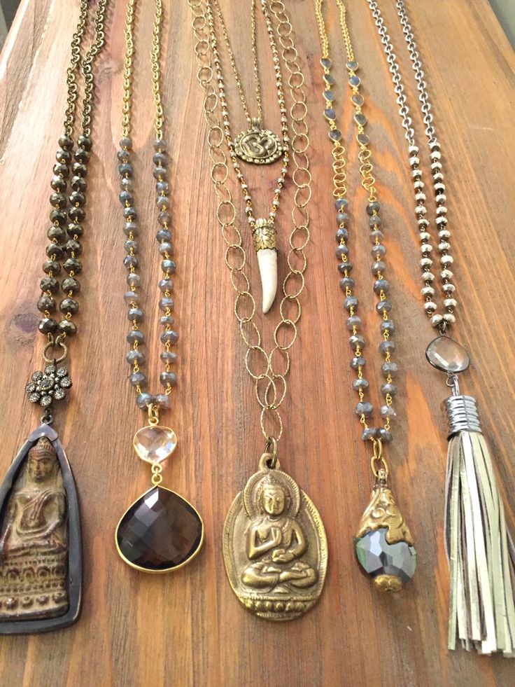 One of a kind Boho necklaces  Email lisajilljewelry@gmail.com to purchase