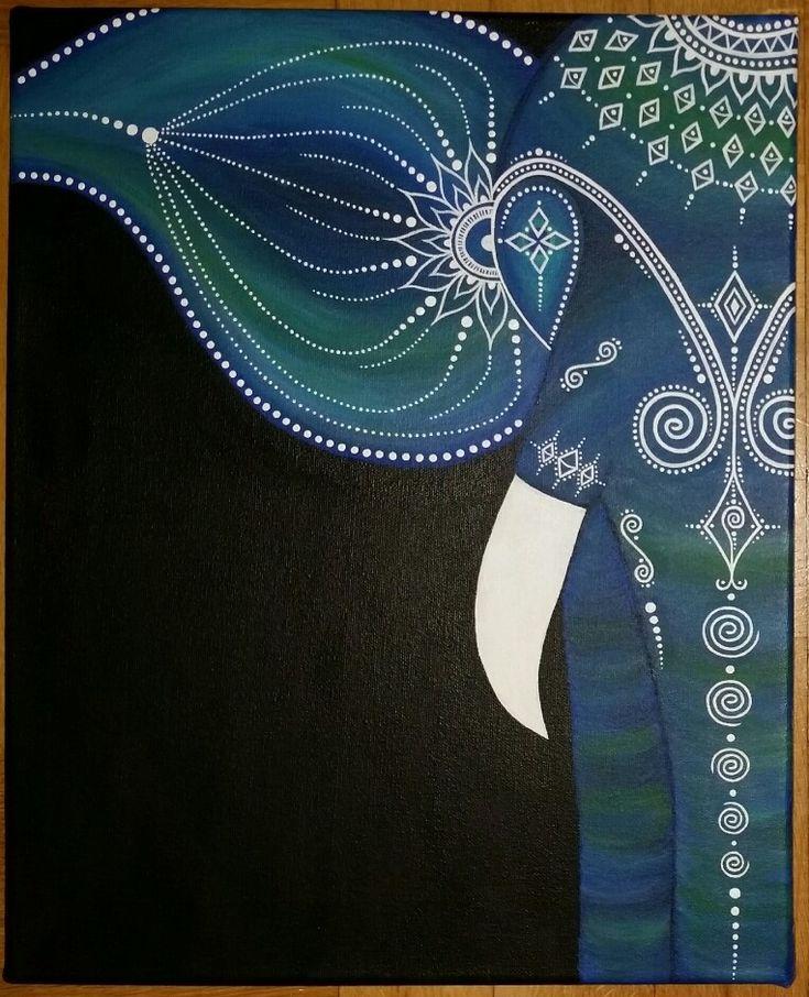 Best 25 Elephant Canvas Painting Ideas On Pinterest