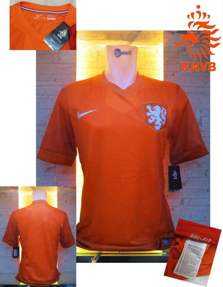 Jual Jersey/Kaos Belanda Home Piala Dunia 2014 Terbaru Murah - Kali ini kami akan menawarkan kepada anda jersey home terbaru Belanda yang akan digunakan untuk pergelaran Piala Dunia 2014. Kualitas dari jersey ini adalah Grade Original 99% mirip d