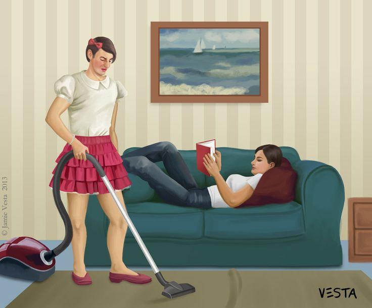 Femdom sissy househusband servant