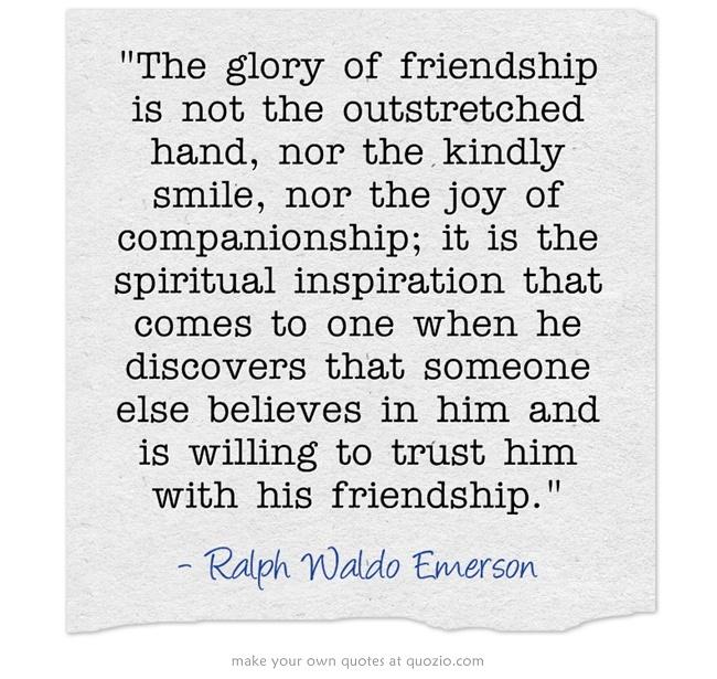 Trustworthy Friendship Essay By Emerson - image 5