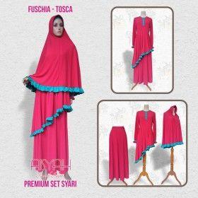 Busana Muslim - Syari Fuschia