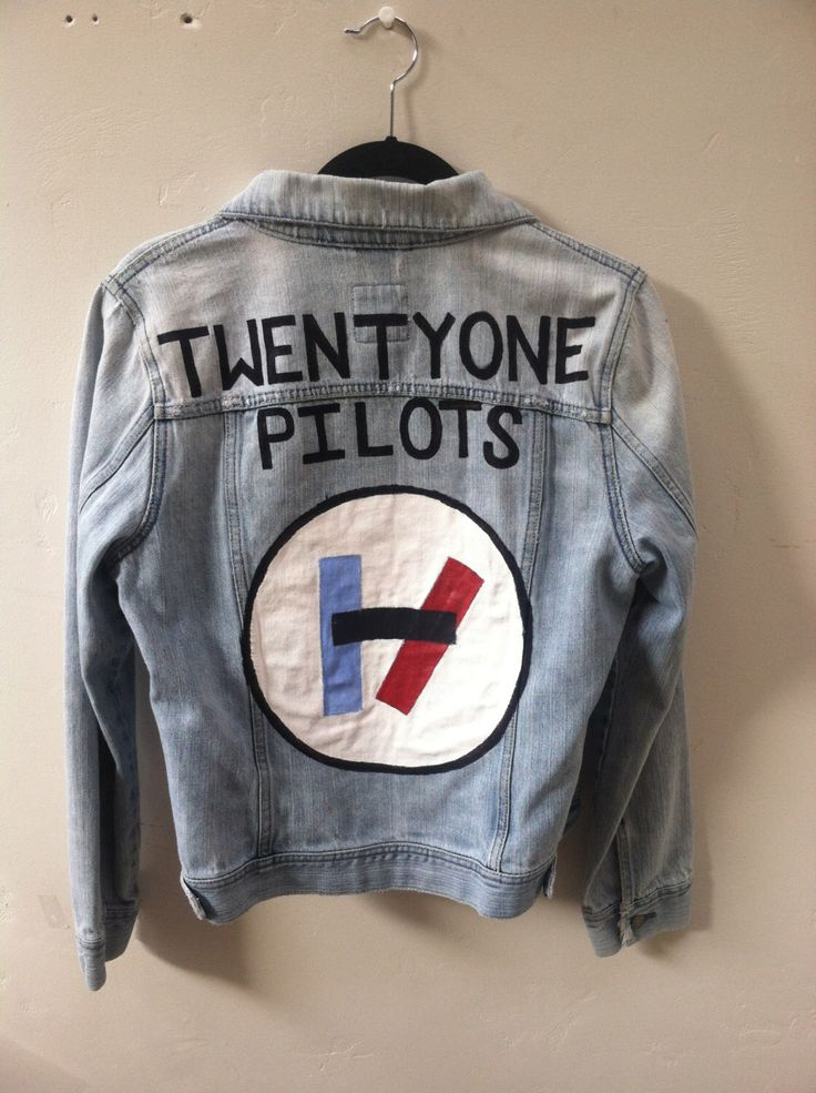 Twenty One Pilots Hand-painted Denmi Jacket by EmmaCarrBandArt on Etsy https://www.etsy.com/listing/264156401/twenty-one-pilots-hand-painted-denmi