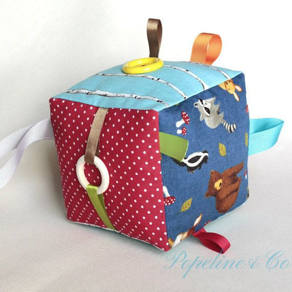 Baby Play Cube Taggie Cube Soft Toy Fabric Baby by PopelineCo