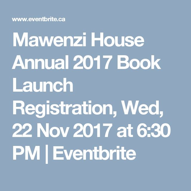 Mawenzi House Annual 2017 Book Launch Registration, Wed, 22 Nov 2017 at 6:30 PM | Eventbrite