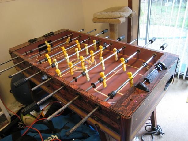 Vintage Foosball Table Quot Tournament Soccer Quot Brown Top