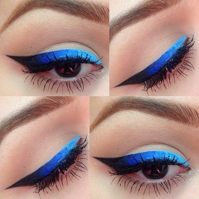 Blue and Black Ombre Eyeliner