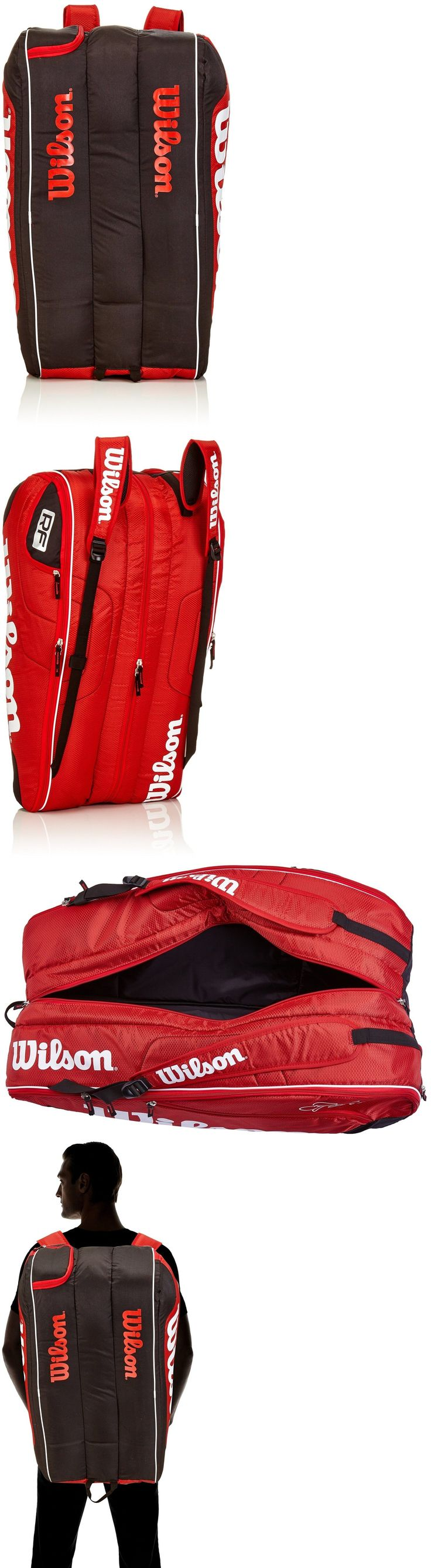 Bags 20869: Wilson Federer Team Iii 12-Pack Red Tennis Bag, Red -> BUY IT NOW ONLY: $76.98 on eBay!