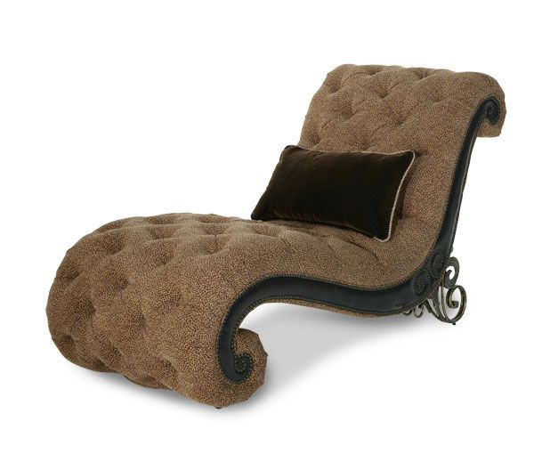 Indoor chaise lounge plans woodworking projects plans for Aico trevi leather armless chaise in brown