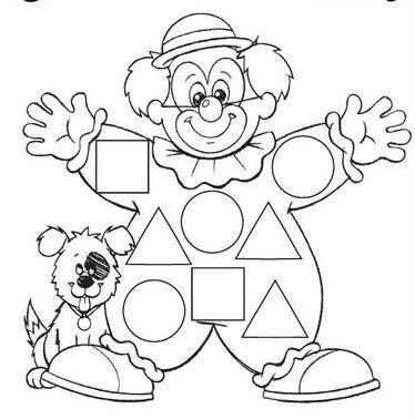 clown shape worksheet
